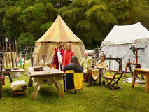 Medieval Camp Stock Image