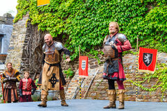 Medieval festival at Cochem Castle royalty free stock image