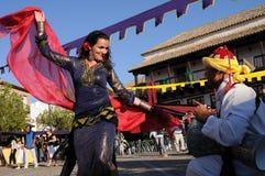 Medieval festival Consuegra. Spain Stock Image