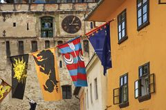 Medieval festival in Sighisoara city Royalty Free Stock Photos