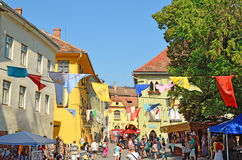 Medieval Festival in Sighisoara, Romania Royalty Free Stock Photography