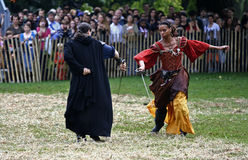 Medieval Festival Sword Fight Stock Photography