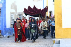 Medieval fete in Obidos Stock Image