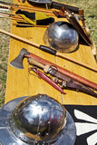 Medieval fighting implements Stock Image