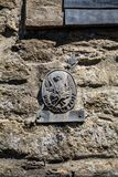 Medieval Fire Insurance house plaque Stock Image