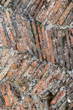Medieval fireplace tiles Royalty Free Stock Photography