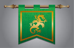 Free Medieval Flag With Dragon Emblem Royalty Free Stock Photography - 30405477