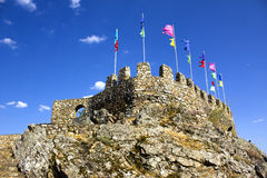 Medieval Flags at the Castle Royalty Free Stock Photography
