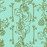 Medieval floral pattern Royalty Free Stock Photo