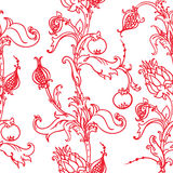 Medieval floral pattern Stock Photos