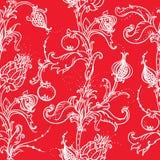 Medieval floral pattern Stock Image