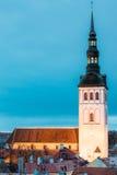 Medieval Former St. Nicholas Church - Niguliste - In Tallinn, Estonia Stock Image