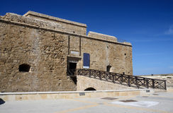 Medieval fort at the harbour in Paphos, Cyprus, island country Stock Photos