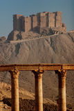 Medieval fort in Palmyra. Mediavel islamic fort near ancient city of Palmyra in Syria stock image
