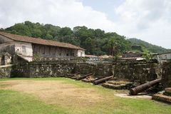 Medieval fort ruins Panama Royalty Free Stock Photos