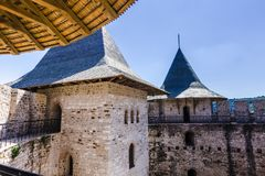 Medieval fort in Soroca. Architectural details of medieval fort in Soroca, Republic of Moldova stock image