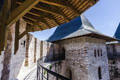 Medieval fort in Soroca. Architectural details of medieval fort in Soroca, Republic of Moldova Stock Photo