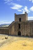 Medieval fort wall in the Spanish Moor town of Ronda, Spain Royalty Free Stock Photos