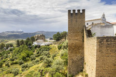 Medieval fort wall in the Spanish Moor town of Ronda, Spain Stock Photography