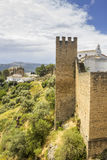 Medieval fort wall in the Spanish Moor town of Ronda, Spain Royalty Free Stock Photography