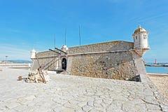 Medieval Fortaleza da Ponta da Bandeira Lagos Portugal Stock Photos