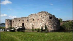 Medieval fortification of Kronoberg stock footage