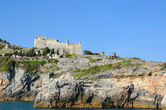 Medieval fortification near Portovenere Royalty Free Stock Photography