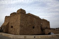 Medieval fortification of Pafos Bay Royalty Free Stock Photography