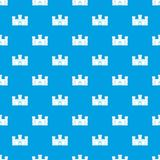 Medieval fortification pattern seamless blue. Medieval fortification pattern repeat seamless in blue color for any design. Vector geometric illustration Royalty Free Stock Photography