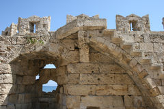Medieval fortification in Rhodes Royalty Free Stock Images