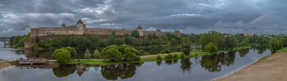 Medieval fortification on the river Royalty Free Stock Photography