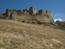 Medieval fortification ruin in Transylvania Stock Photography