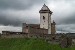 Medieval fortification, summer evening Stock Images
