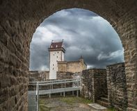 Medieval fortification, summer evening Royalty Free Stock Photo