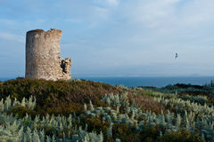 Medieval fortification tower in Bonifacio. A medieval fortification tower in Bonifacio Royalty Free Stock Photos