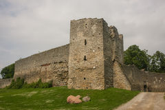 Medieval fortification walls of Haapsalu Royalty Free Stock Photo