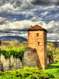 Medieval fortifications of Bergheim - France Royalty Free Stock Image