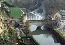 Medieval fortifications in Luxembourg Royalty Free Stock Photo