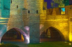 Medieval fortifications, Warsaw Stock Image