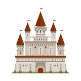 Medieval fortified castle of king or lord symbol Royalty Free Stock Photos