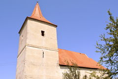 Medieval fortified church in Avrig, Sibiu, Transylvania. Avrig fortified Evangelical Church is a collection of historical monuments located in the city Avrig Royalty Free Stock Photos