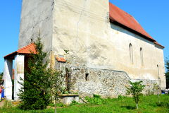 Medieval fortified church in Avrig, Sibiu, Transylvania. Avrig fortified Evangelical Church is a collection of historical monuments located in the city Avrig Royalty Free Stock Images
