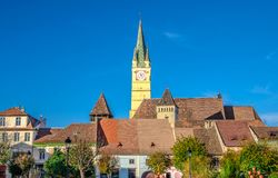 Free Medieval Fortified Church Of Medias Stock Images - 35491394