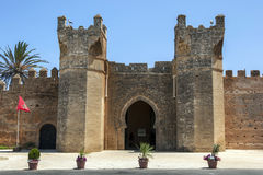 The medieval fortified entrance to Chellah necropolis in Morocco. Stock Photo