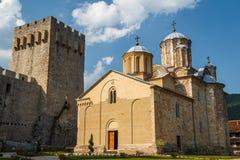 Medieval fortified Manasija monastery. Serbia Royalty Free Stock Image