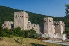 Medieval fortified Manasija monastery. Serbia Stock Images