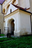 Medieval fortified saxon church Saschiz Keisd, Transylvania. Stock Photos