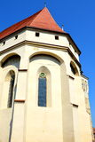 Medieval fortified saxon church Saschiz Keisd, Transylvania. Royalty Free Stock Images