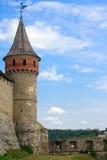The medieval fortress. In Kamenets Podolskiy, Carpathians, Ukraine Stock Images