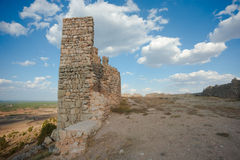 Medieval fortress. The remains of the medieval fortress of Gormaz, Spain Stock Photography
